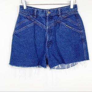 Vintage | Dark Wash Denim Jean Shorts Cutoffs
